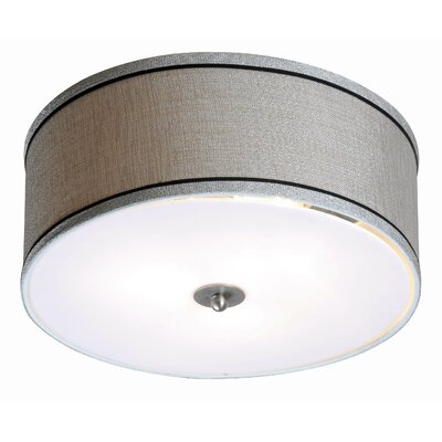 Juana 2-Light Flush Mount Finish: Brushed Steel