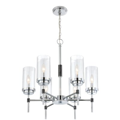 Elvira 6 Light Candle-Style Chandelier