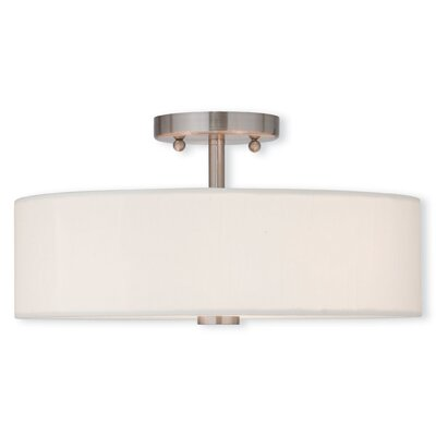 Benner 3-Light Semi Flush Mount