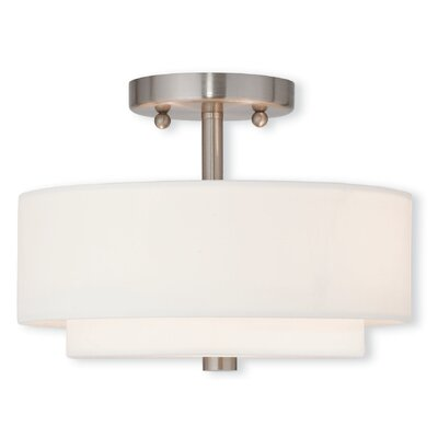 Joey 2-Light Semi-Flush Mount Size: 8.13 H x 11 W x 11 D