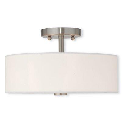 Bennet 2-Light Semi Flush Mount Size: 7.5 H x 11 W x 11 D