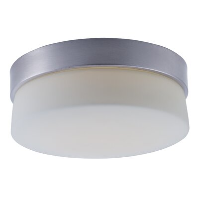Zeil 1-Light Flush Mount Size: 4 H x 9 W x 9 D