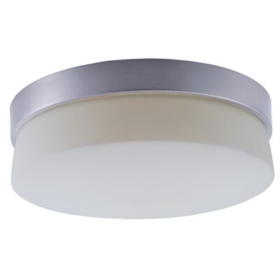 Zeil 1-Light Flush Mount Size: 4 H x 11 W x 11 D