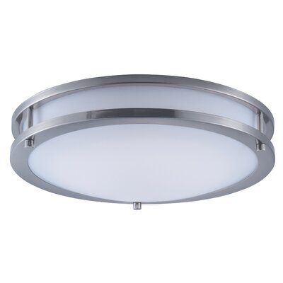 Steve 1-Light Flush Mount Size: 3.25 H x 14 W x 14 D