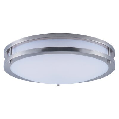Steve 1-Light Flush Mount Size: 4 H x 16 W x 16 D