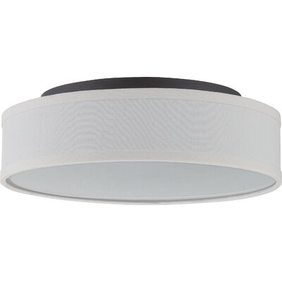 Benning 1-Light Flush Mount Finish: Aged Bronze