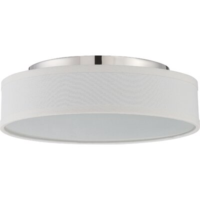 Benning 1-Light Flush Mount Finish: Polished Nickel