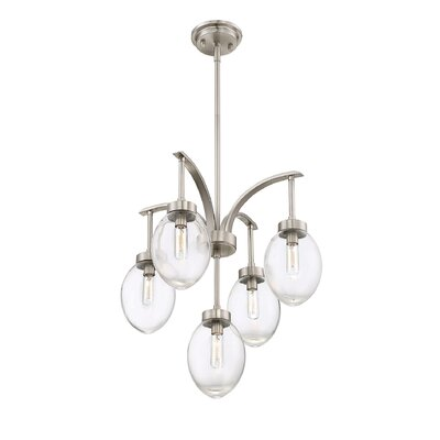 Gustavo 5-Light Candle-Style Chandelier Finish: Satin Nickel