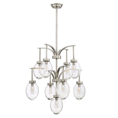 Gustavo 9-Light Candle-Style Chandelier