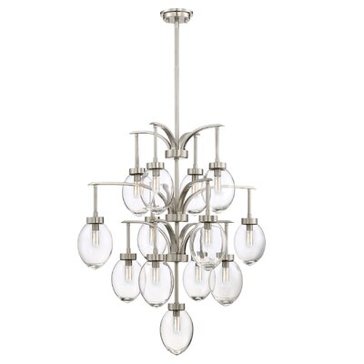 Gustavo 13-Light Candle-Style Chandelier
