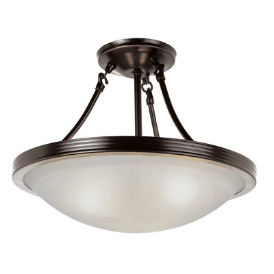 Fredrick 3-Light Semi Flushmount Finish: Rubbed Oil Bronze