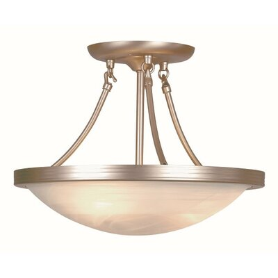 Treadaway 3-Light Semi Flushmount Finish: Brushed Nickel