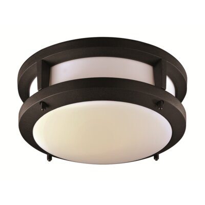 Jorge 1-Light Flush Mount Finish: Black