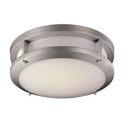 Jorge 1-Light Flush Mount Finish: Silver