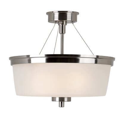 Youngs 1-Light Semi Flush Mount