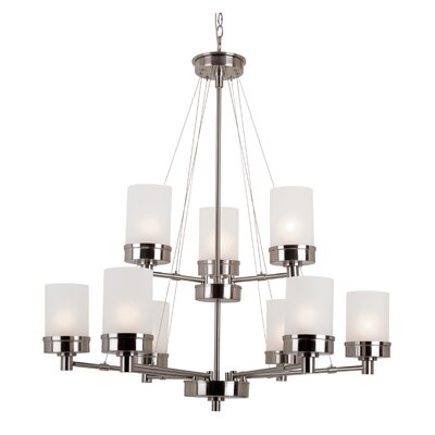 Youngs 9-Light Shaded Chandelier