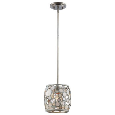 Ellari 1-Light Mini Pendant Finish: Antique Silver