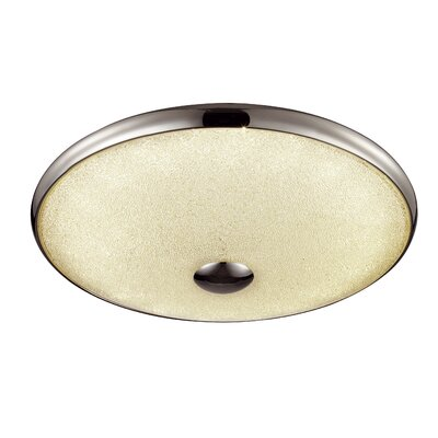 Woodleigh 1-Light Flush Mount Size: 3 H x 16 W x 16 D