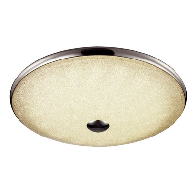 Woodleigh 1-Light Flush Mount Size: 3.5 H x 19 W x 19 D