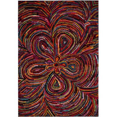 Miley Green/Blue/Red Area Rug Rug Size: Rectangle 27 x 5
