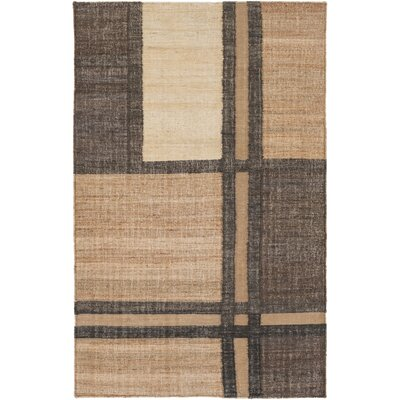 Katelyn Hand-Woven Khaki/Brown Area Rug Rug size: 33 x 53