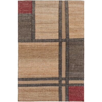Katelyn Hand-Woven Khaki Area Rug Rug size: Rectangle 33 x 53
