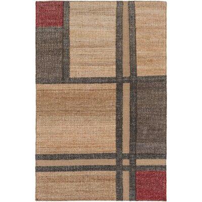 Katelyn Hand-Woven Khaki Area Rug Rug size: 33 x 53