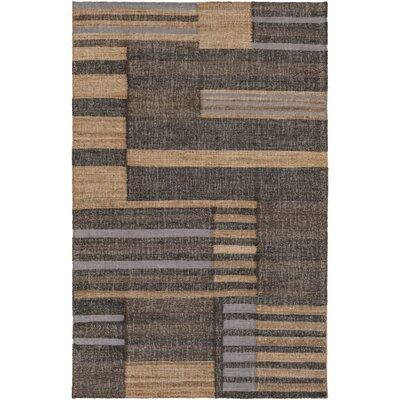 Katelyn Hand-Woven Dark Brown Area Rug Rug size: 33 x 53