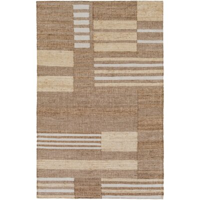 Katelyn Hand-Woven Camel Area Rug Rug size: Rectangle 8 x 10