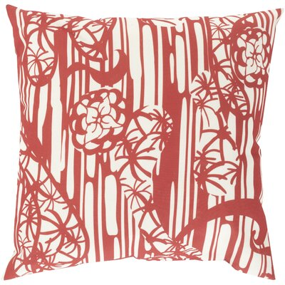 Janna Throw Pillow Size: 18 H x 18 W x 4 D, Color: RedNeutral
