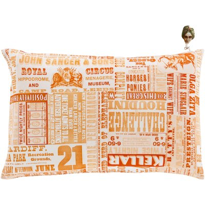 Janie 100% Cotton Lumbar Pillow Cover Color: OrangeOrange