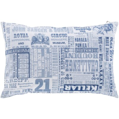 Janie 100% Cotton Lumbar Pillow Cover Color: Blue