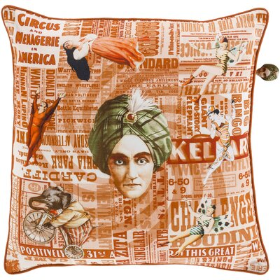 Janie 100% Cotton Throw Pillow Cover Size: 20 H x 20 W x 1 D, Color: OrangePink