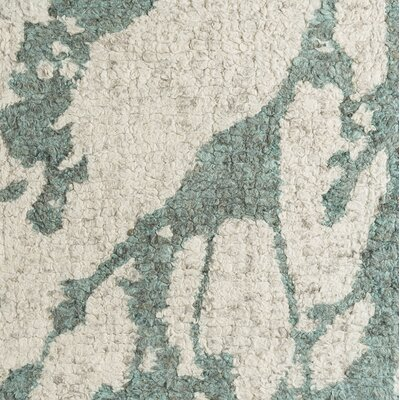 Jewel Hand-Tufted Beige/Green Area Rug Rug Size: 2 x 3