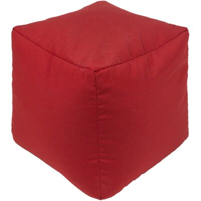Elisa Pouf Ottoman Upholstery: Red
