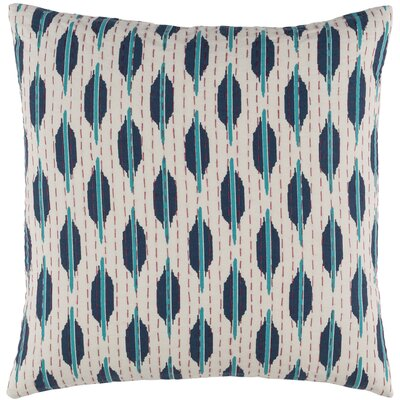 Ismael Pillow Cover Color: Blue / Teal, Size: 22 H x 22 W x 1 D