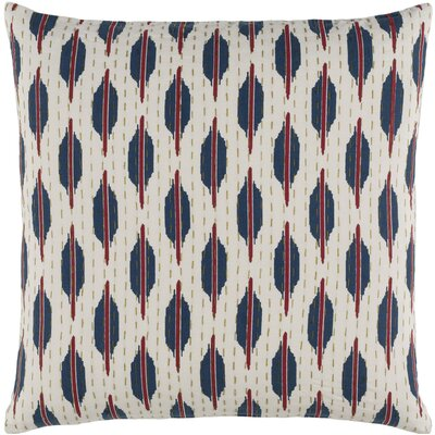 Ismael Pillow Cover Size: 22 H x 22 W x 1 D, Color: Red / Blue