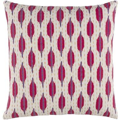Ismael Pillow Cover Size: 22 H x 22 W x 1 D, Color: Purple / Pink