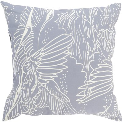 Janna Indoor/Outdoor Throw Pillow Size: 20 H x 20 W x 4 D, Color: Gray