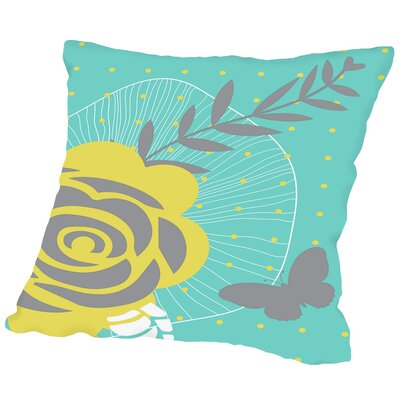 Jerry Summer Blooms Outdoor Throw Pillow Size: 20 H x 20 W x 2 D
