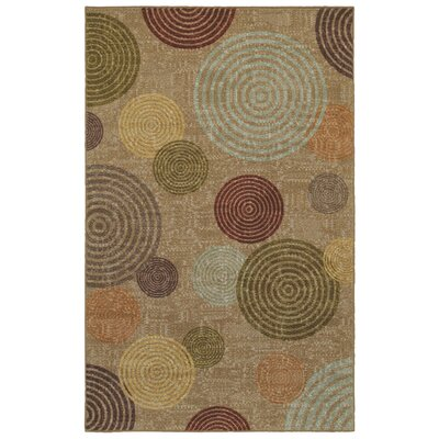 Rory Beige/Green Area Rug Rug Size: Rectangle 5 x 8