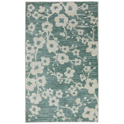Harold Blossom Teal/Cream Area Rug