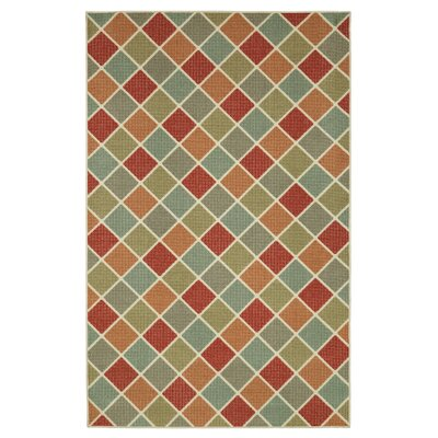 Johnathan Ozias Green/Brown Area Rug Rug Size: Rectangle 76 x 10