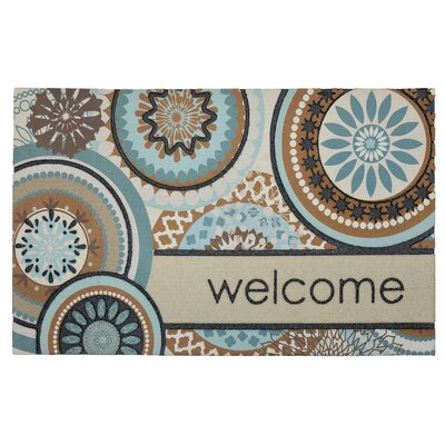 Janine Floral Mix Welcome Doormat