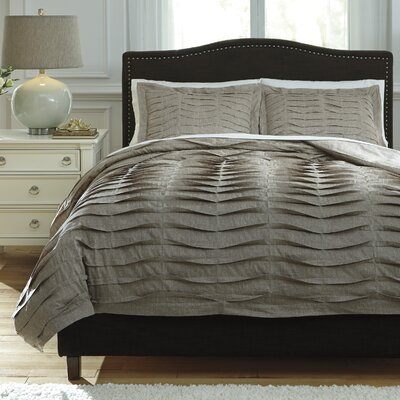 Bluestone 3 Piece Duvet Cover Set Size: King, Color: Brown