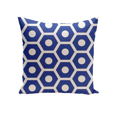 Elverton Geometric Decorative Outdoor Pillow Color: Dazzling Blue, Size: 16