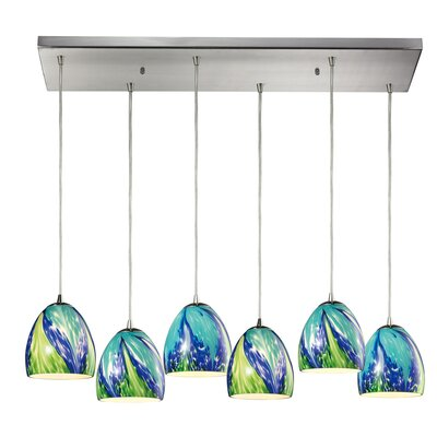 Wobna 6-Light Kitchen Island Pendant
