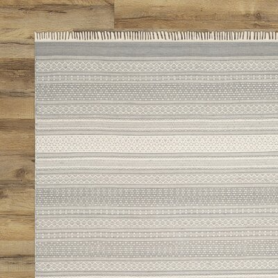 Amerina Hand-Knotted Gray Area Rug Rug Size: 8 x 10