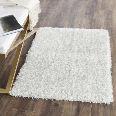Winnett Hand-Tufted Ivory/Light Gray Area Rug Rug Size: Round 5 x 5