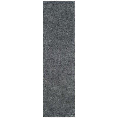 Winnett Hand-Tufted Dark Gray Area Rug Rug Size: Round 5 x 5